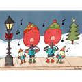 Table Tennis Paddle Holiday Card