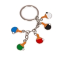 GEWO Trendy Mini Paddle Keychain Set of Four