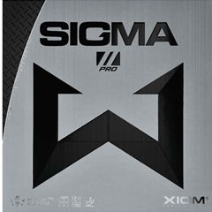 XIOM Sigma Pro II - German Tensor Speed Glue Effect table tennis Rubber for Looping, Smashing, Hitting, Pushing, Spinny Serves