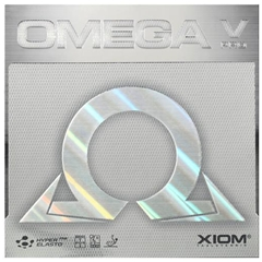XIOM Omega 5 Pro - German Tensor Speed Glue Effect table tennis Rubber for Looping, Smashing, Hitting, Pushing, Spinny Serves