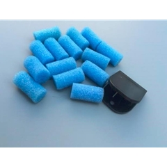 Clip and Sponge for Gluing Rubber.