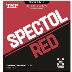 TSP Spectol Red - Short Pips-out Table Tennis Rubber