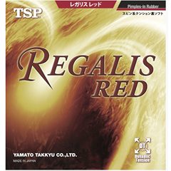 TSP Regalis Red - Table Tennis Rubber with Built-in power and soft sponge