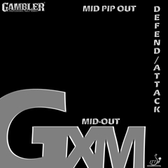 Gambler GXM – Soft Medium Long Table Tennis Pips Out Rubber