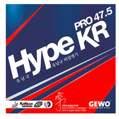 GEWO Hype KR Pro 47.5 - Offensive Table Tennis Rubber for the serious competitor