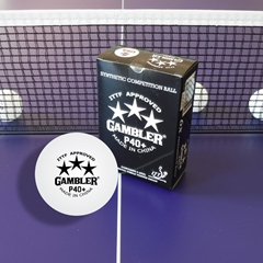 Gambler P40+ 3 Star Table Tennis Ball - 6 Pack