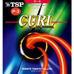 TSP Curl P3 (P-3) - Long Pips-out Table Tennis Rubber of Haruna Fukuoka