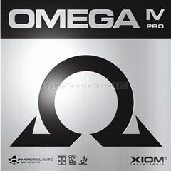 XIOM Omega 4 IV Pro - German Tensor Speed Glue Effect table tennis Rubber for Looping, Smashing, Hitting, Pushing, Spinny Serves