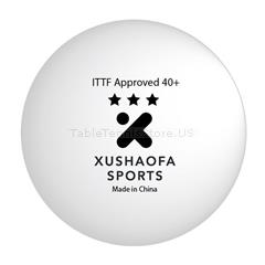 Xushaofa Seamless 3-Star Premium Poly Table Tennis Balls One Dozen