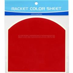 Table Tennis Racket Color Sheet